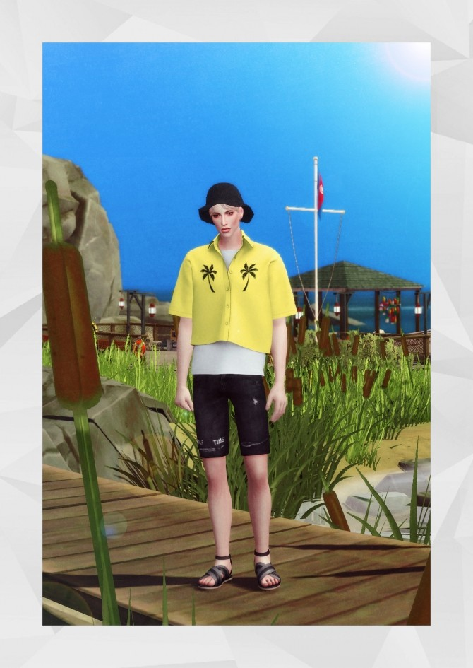 Cropped Shirt at Gorilla image 554 670x945 Sims 4 Updates
