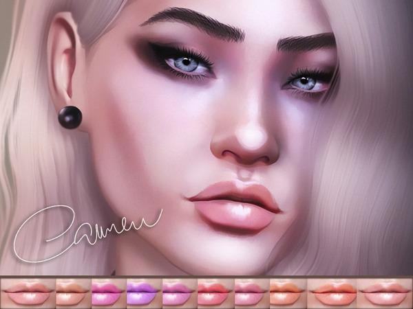 Sims 4 Carmen Lipstick by KatVerseCC at TSR