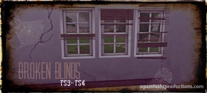Sims 4 Broken Blinds SET at Pandasht Productions