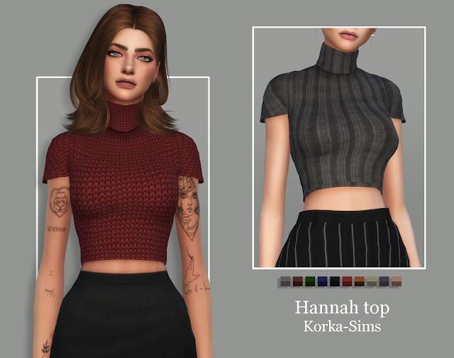 Hannah top at Korka Sims image 5616 Sims 4 Updates