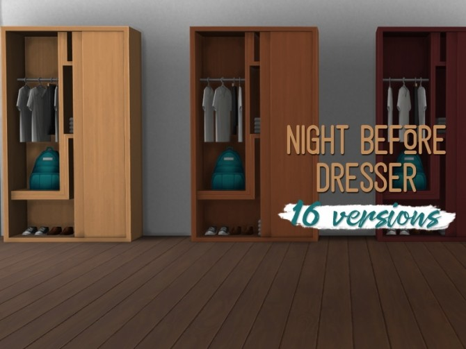Sims 4 Night before dresser at Midnightskysims