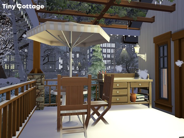 Sims 4 Tiny Cottage by Pralinesims at TSR