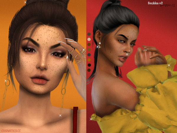 Freckles v2 by cosimetics at TSR image 580 Sims 4 Updates