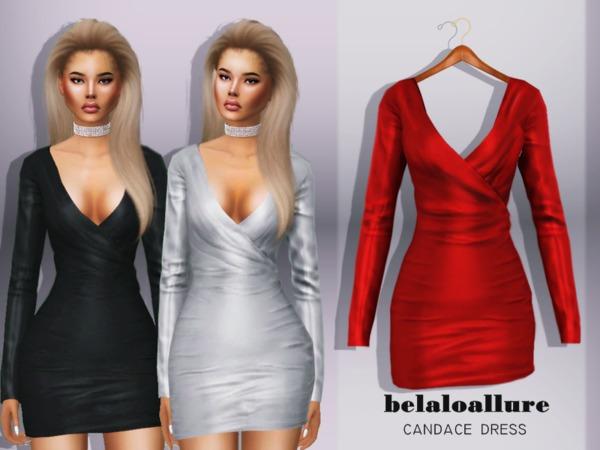 Sims 4 Belaloallure candace dress by belal1997 at TSR