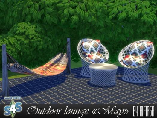 Sims 4 May outdoor lounge at Aifirsa