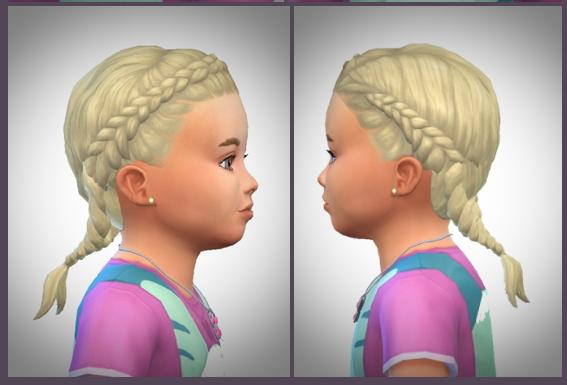 Sims 4 Tiny Gretel Braids at Birksches Sims Blog