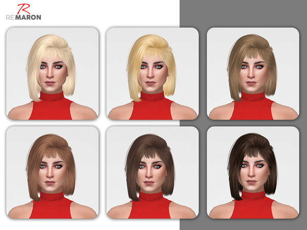 Hoola Hair Retexture by remaron at TSR image 6104 Sims 4 Updates