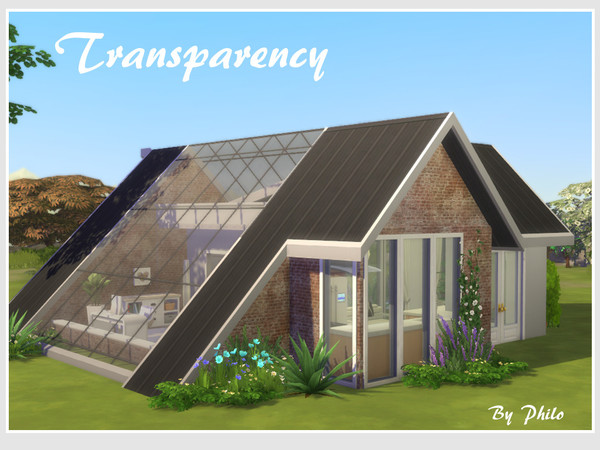 Sims 4 Transparency house No CC by philo at TSR