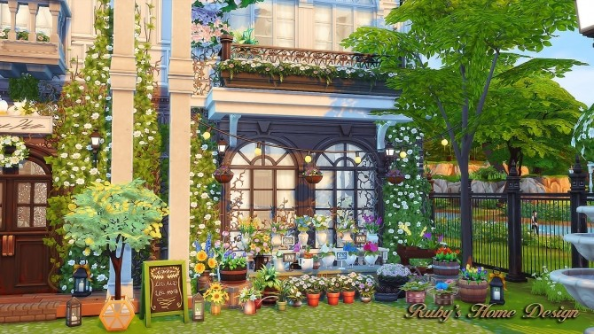 Parisian Flower Shop at Ruby's Home Design image 6216 670x377 Sims 4 Updates