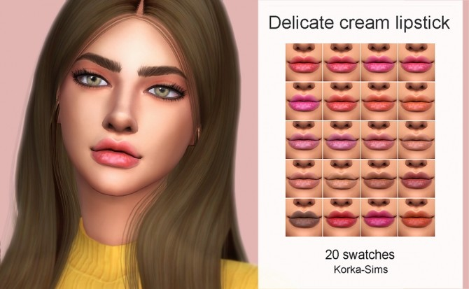 Delicate cream lipstick at Korka Sims image 622 670x413 Sims 4 Updates