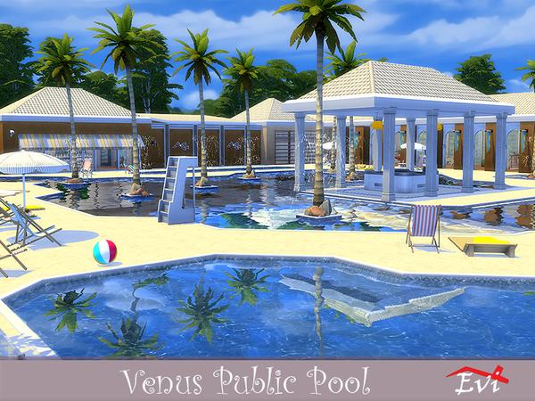 Sims 4 Venus Public Pool by evi at TSR