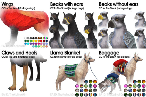 List of all CC for Animals at Kalino image 624 Sims 4 Updates