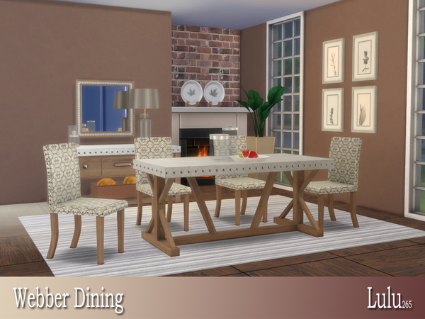 Webber Dining by Lulu265 at TSR image 628 Sims 4 Updates