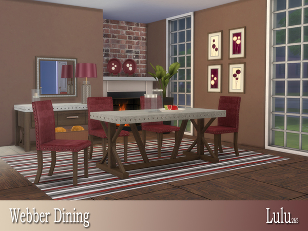 Webber Dining by Lulu265 at TSR image 637 Sims 4 Updates