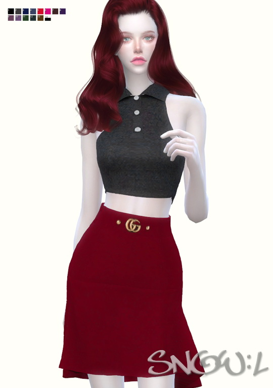 G skirt at SNOW:L image 6417 Sims 4 Updates