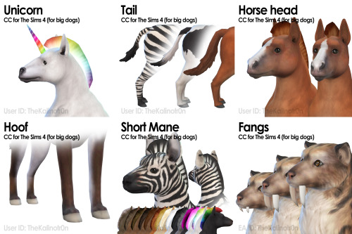 List of all CC for Animals at Kalino image 644 Sims 4 Updates