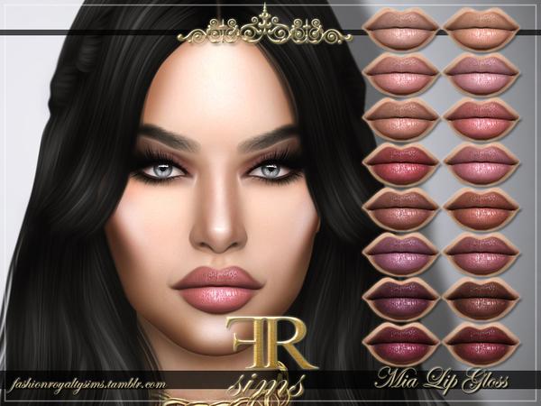 FRS Mia Lip Gloss by FashionRoyaltySims at TSR image 648 Sims 4 Updates