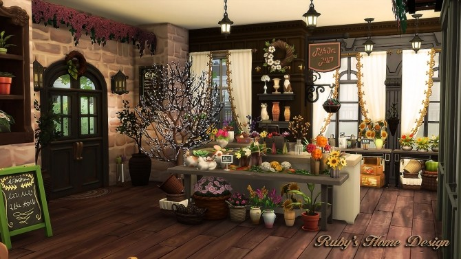 Parisian Flower Shop at Ruby's Home Design image 6514 670x377 Sims 4 Updates
