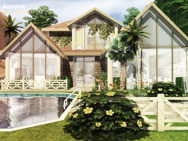Sims 4 Aurora house by Pralinesims at TSR