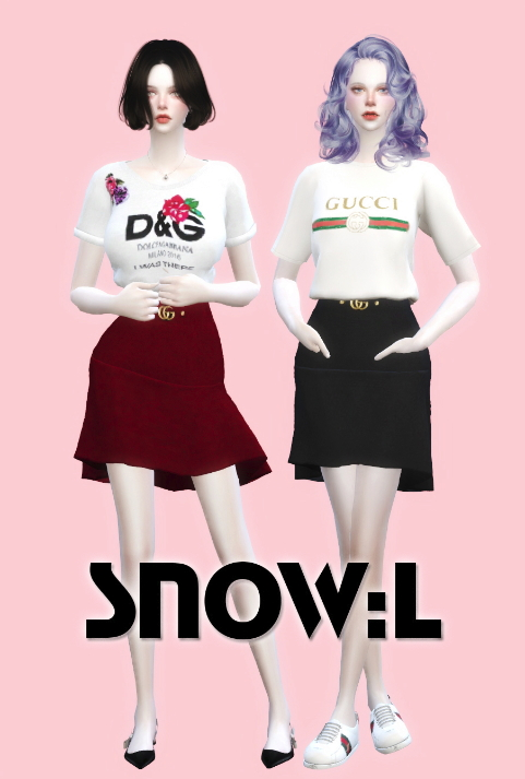G skirt at SNOW:L image 6618 Sims 4 Updates