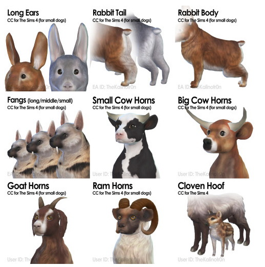 List of all CC for Animals at Kalino image 664 Sims 4 Updates