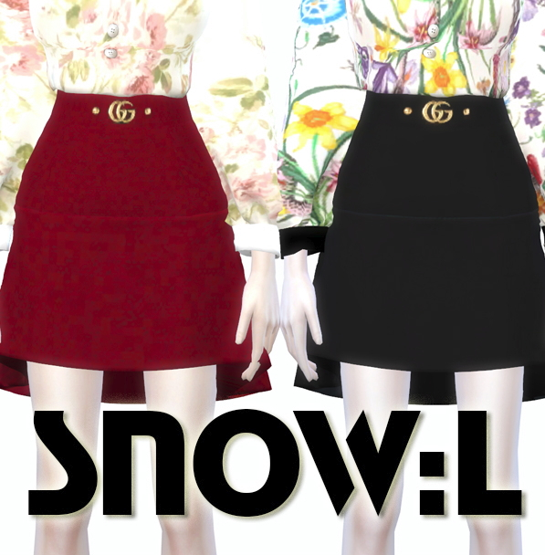 G skirt at SNOW:L image 6718 Sims 4 Updates