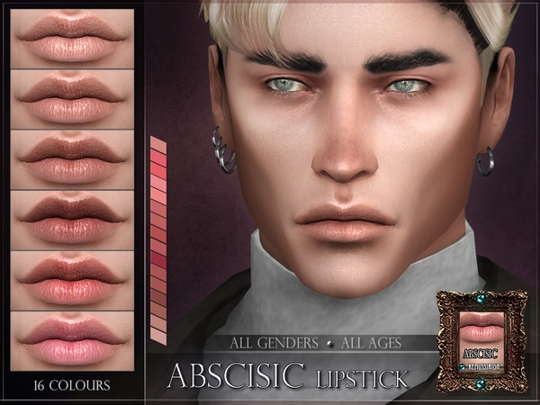 Sims 4 Abscisic Lipstick by RemusSirion at TSR
