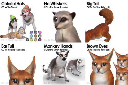 List of all CC for Animals at Kalino image 684 Sims 4 Updates