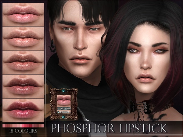 Phosphor Lipstick by RemusSirion at TSR image 687 Sims 4 Updates