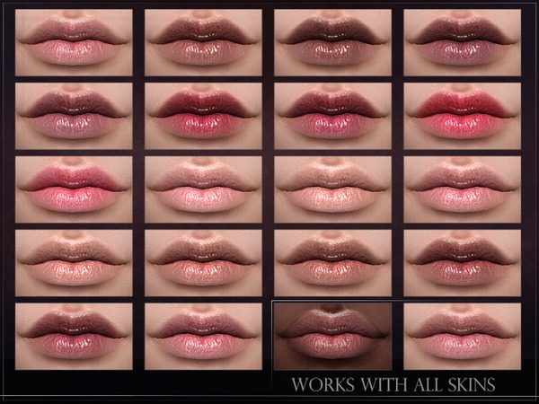 Sims 4 Phosphor Lipstick by RemusSirion at TSR