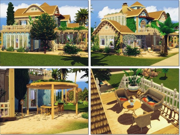 Sims 4 Sweet Tropical Life 2 house by MychQQQ at TSR