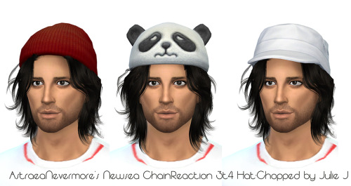 Sims 4 Newsea Chain Reaction 3t4 by AstraeaNevermore Hat Chopped at Julietoon – Julie J