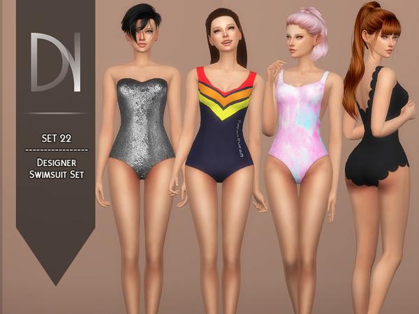 Sims 4 SET 22 Designer Swimsuit Set by DarkNighTt at TSR