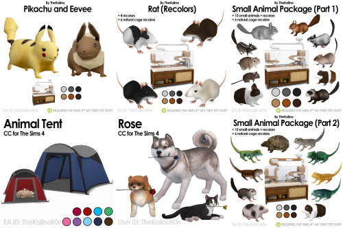 List of all CC for Animals at Kalino image 704 Sims 4 Updates