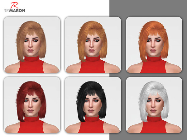 Hoola Hair Retexture by remaron at TSR image 7103 Sims 4 Updates