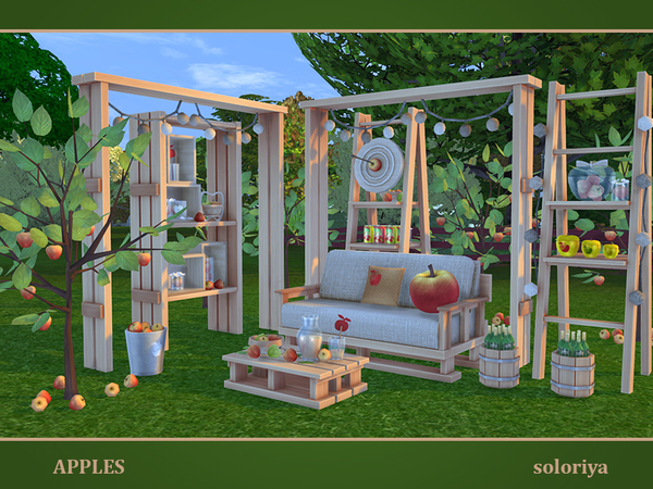 Sims 4 Apples set by soloriya at TSR