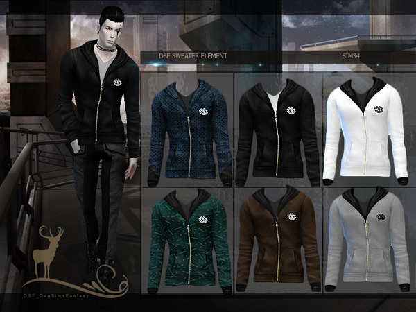 Sims 4 DSF SWEATER ELEMENT by DanSimsFantasy at TSR