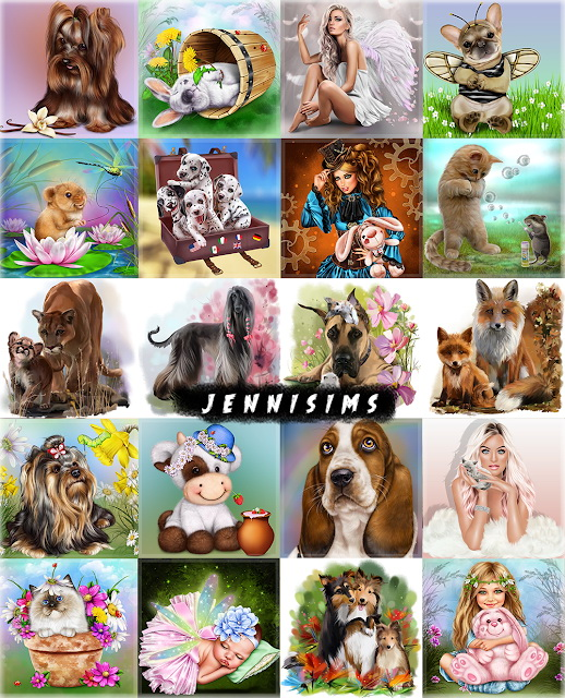 Paintings My Family 20 designs at Jenni Sims image 734 Sims 4 Updates