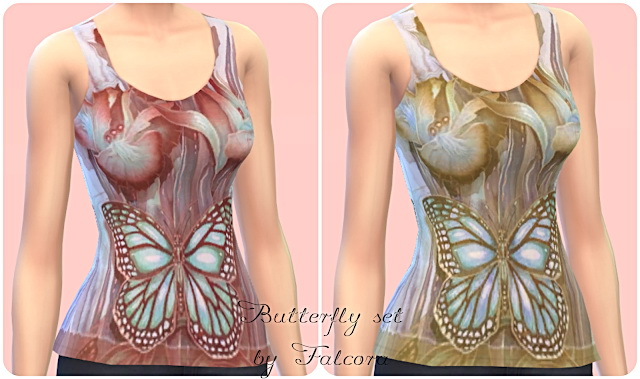Butterfly Set 7x at Petka Falcora image 7420 Sims 4 Updates