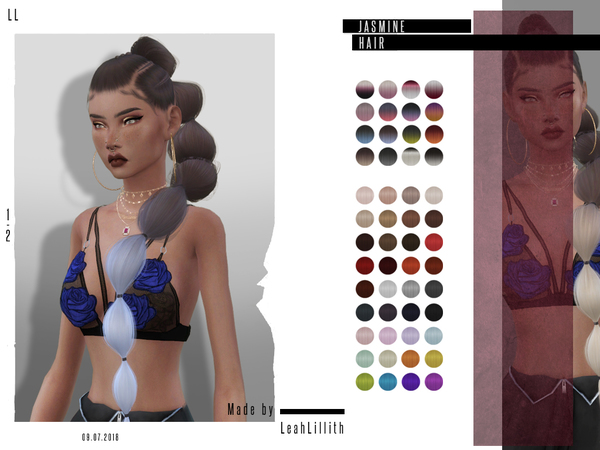 Jasmine Hair by Leah Lillith at TSR image 747 Sims 4 Updates