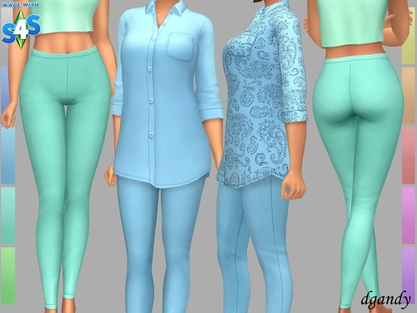 Demi leggings by dgandy at TSR image 7520 Sims 4 Updates
