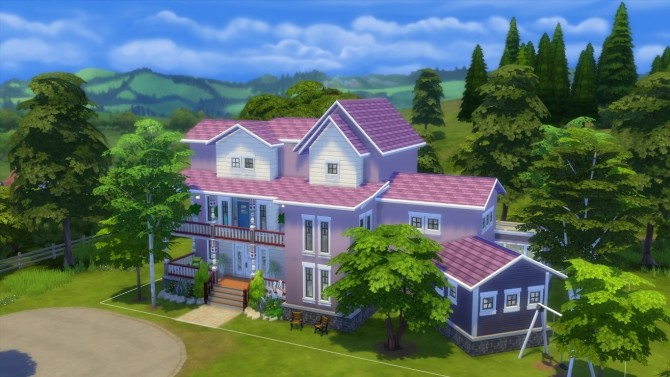 The violet house by iSandor at Mod The Sims image 756 670x377 Sims 4 Updates
