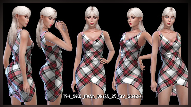 Dress 29 at All by Glaza image 763 Sims 4 Updates