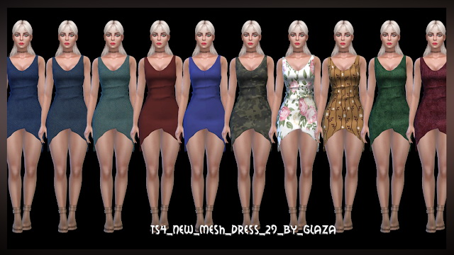 Dress 29 at All by Glaza image 774 Sims 4 Updates