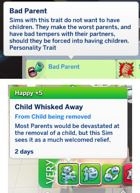 Sims 4 Bad Parent Trait by Zuperbuu at Mod The Sims