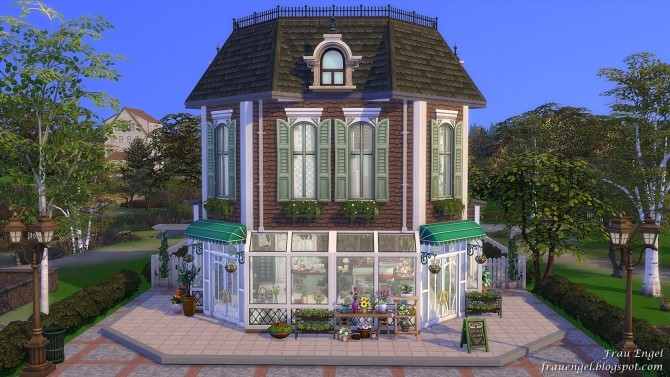 Flower shop No CC by Julia Engel at Frau Engel image 794 670x377 Sims 4 Updates
