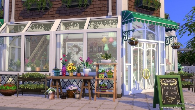 Flower shop No CC by Julia Engel at Frau Engel image 804 670x377 Sims 4 Updates