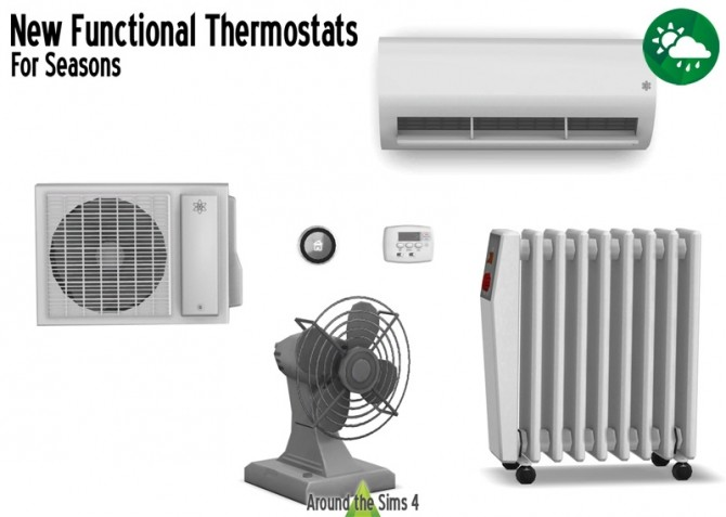 Functional Thermostats by Sandy at Around the Sims 4 image 805 670x477 Sims 4 Updates