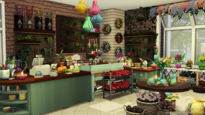 Flower shop No CC by Julia Engel at Frau Engel image 817 670x377 Sims 4 Updates