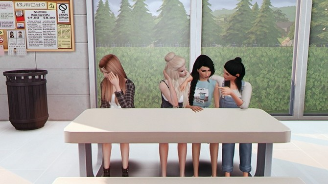 You Can't Sit with Us Pose at Josie Simblr image 821 670x377 Sims 4 Updates